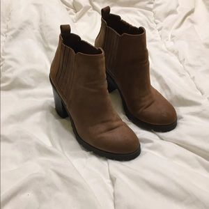 Sam & Libby Shoes - Sam & Libby combat booties tan suede 6.5